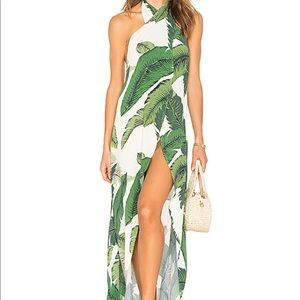Beach Riot, Salty Wrap Coverup in Palm Print, NEW